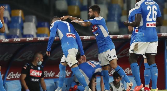 Napoli-Lazio 3-1: Gattuso batte Inzaghi, ma perde Insigne per infortunio