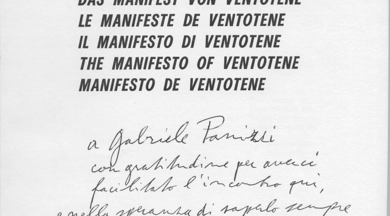Rilanciamo il Manifesto di Ventotene