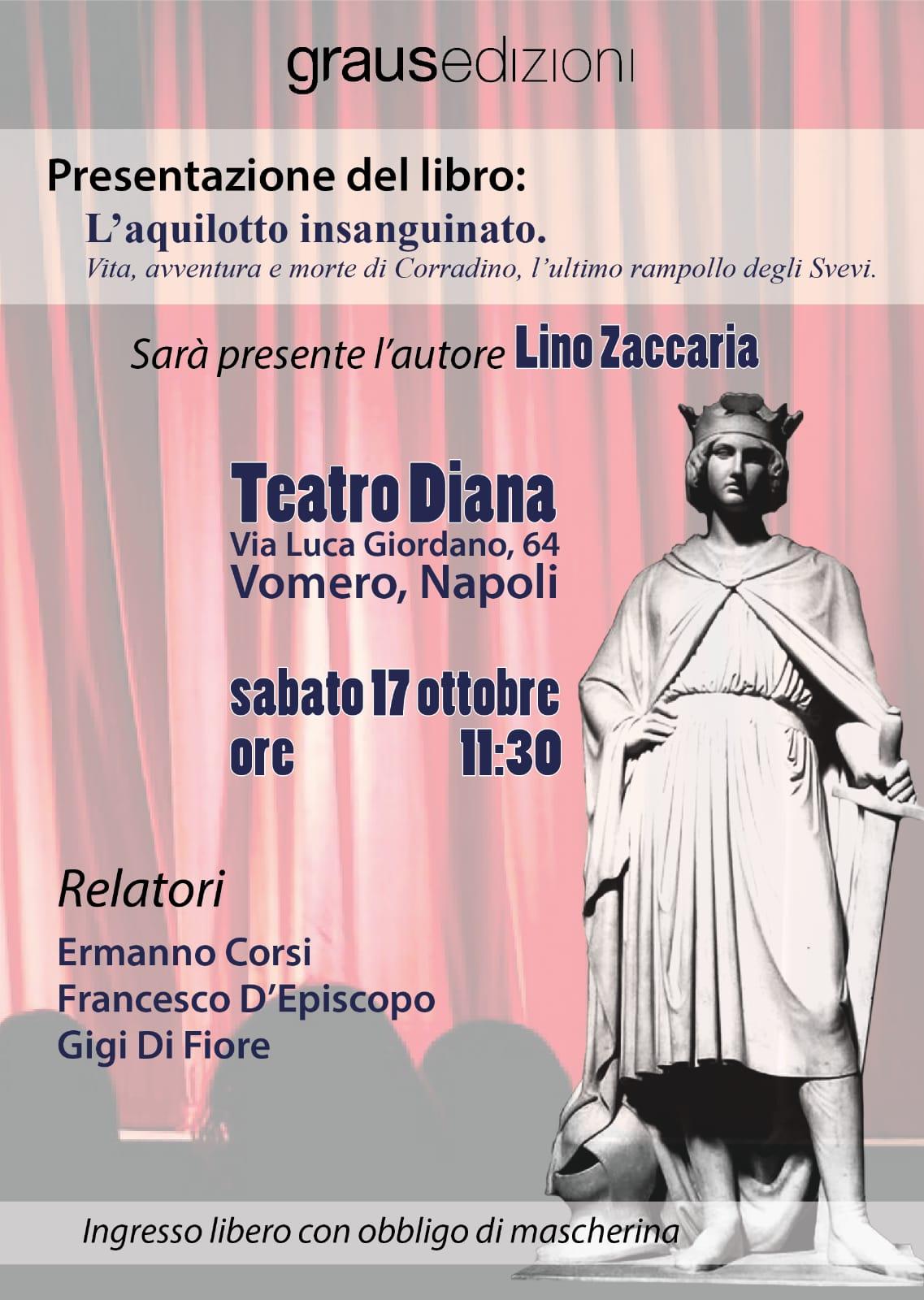 """""""L'Aquilotto insanguinato"""", sabato 17 ottobre presentazione al Teatro Diana"""