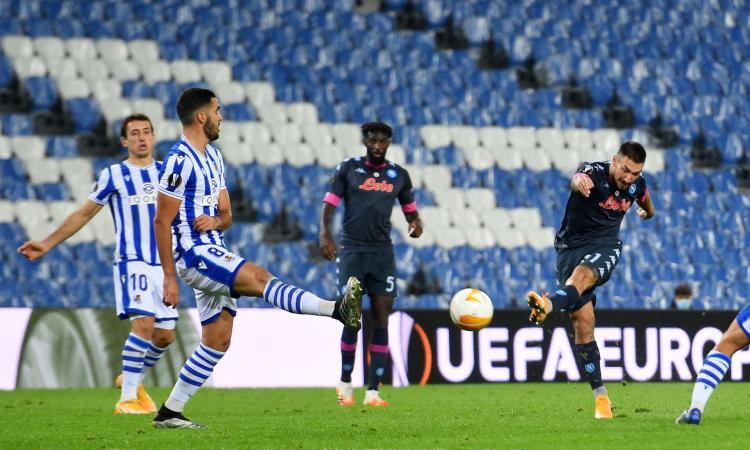 Europa League, Real Sociedad-Napoli 0-1: Politano rimette gli azzurri in corsa per la qualificazione