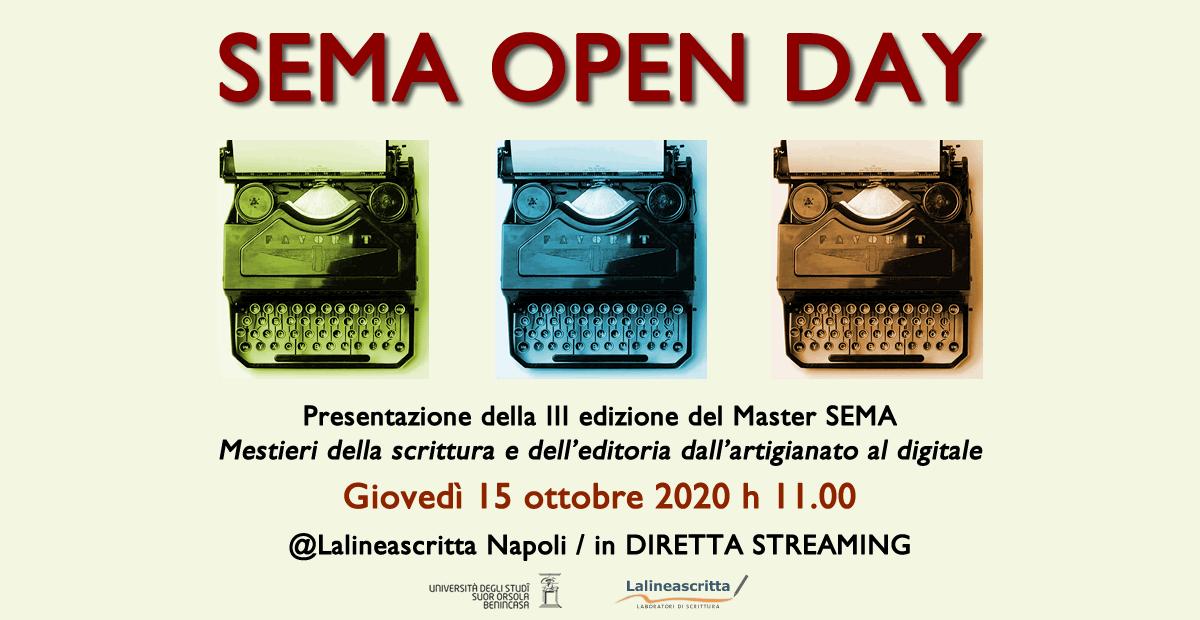 I mestieri della scrittura: giovedì 15 ottobre master a Napoli
