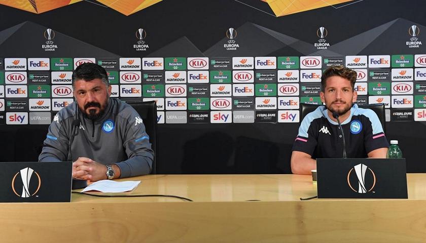 "Napoli, Gattuso: ""Poco turnover contro l'Az Alkmaar"""