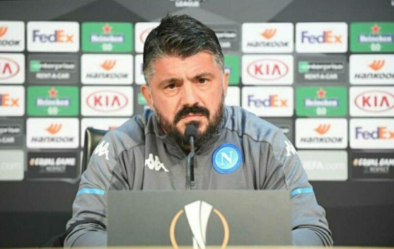 """Napoli-Rijeka, Gattuso: """"Nessun litigio con la squadra, ma voglio qualcosa in più"""""""