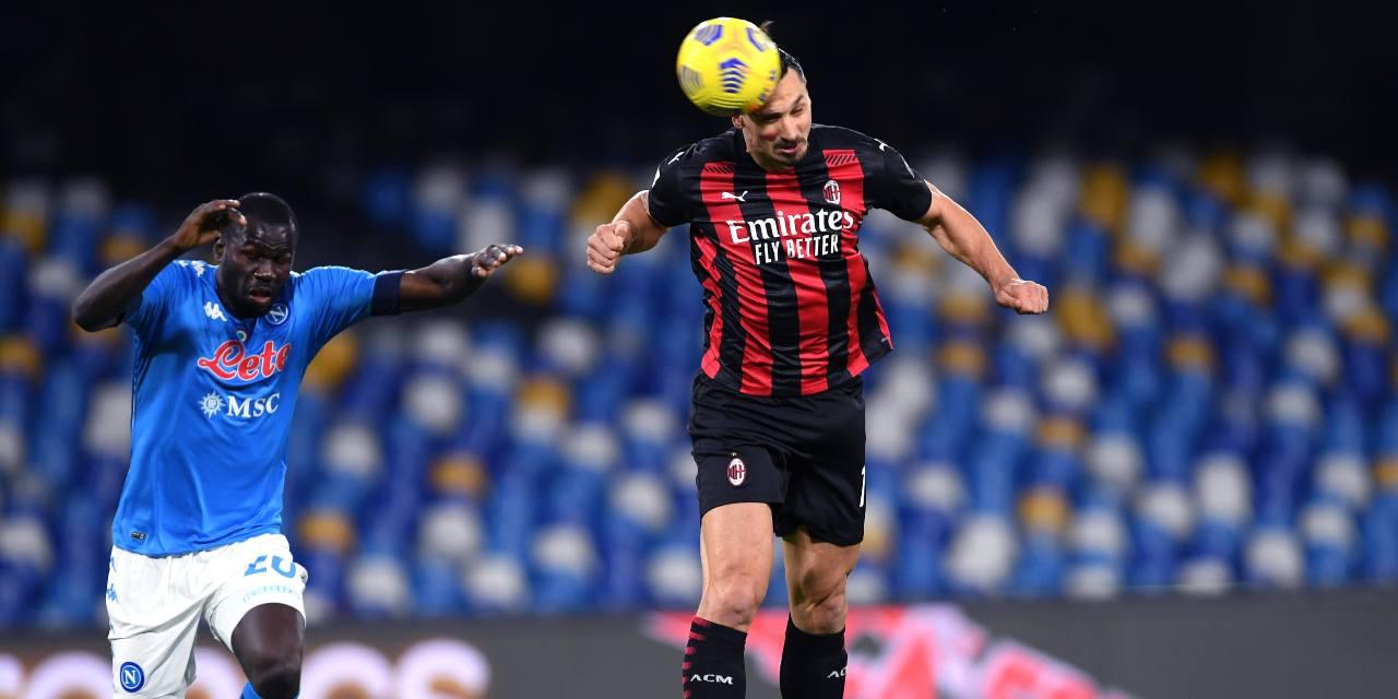Napoli-Milan 1-3: Ibra trascina i rossoneri, Gattuso perde la terza di fila in casa