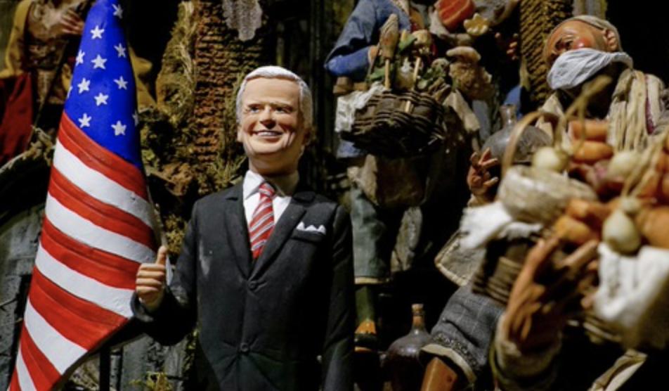 Presepe Napoli, ecco il pastore per il neo eletto presidente Usa Joe Biden