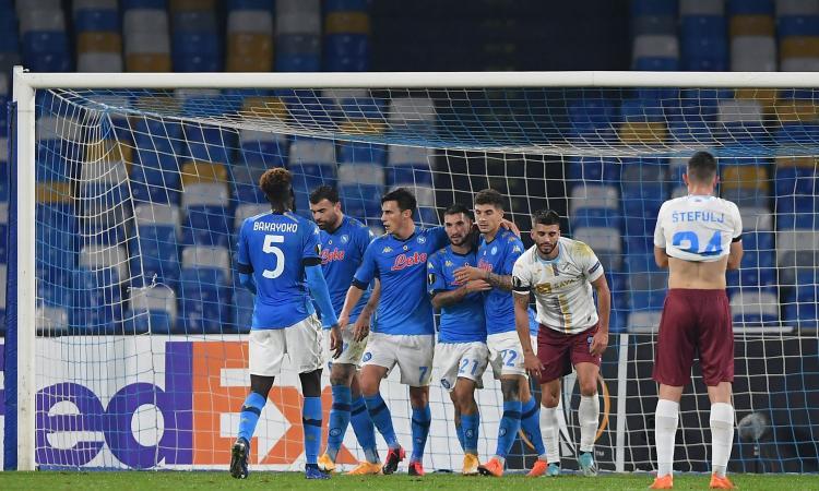 Europa League: Rijeka ko, il Napoli vince nel segno di Maradona