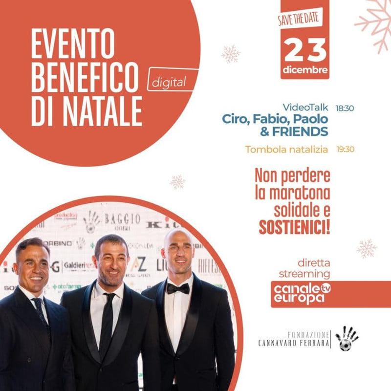 Solidarietà, la Fondazione Cannavaro-Ferrara in campo il 23 dicembre con la tombola natalizia on line