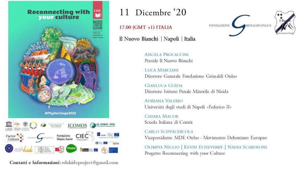 Reconnecting with your culture, la scuola nel mondo: appuntamento l'11 dicembre alle 17