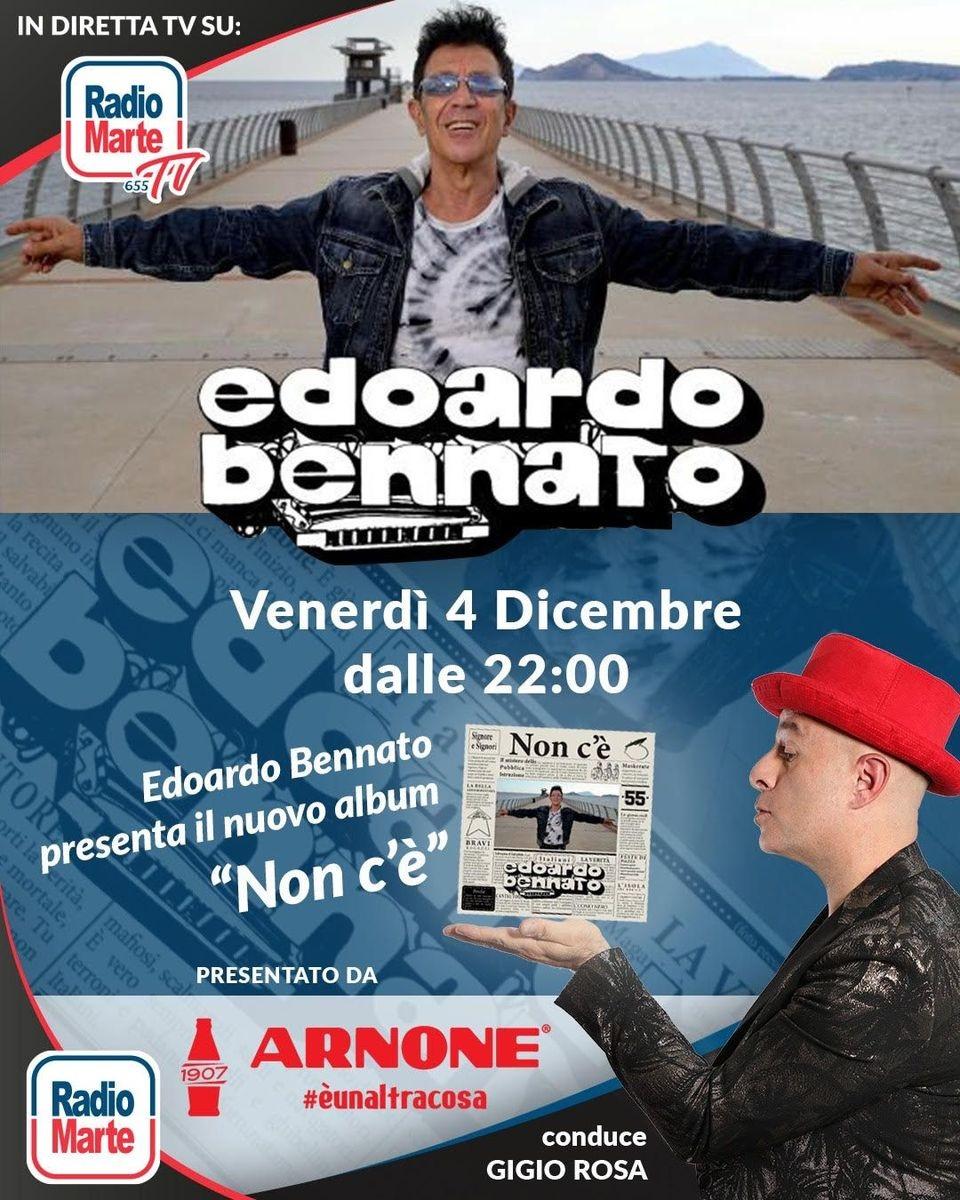 """Edoardo Bennato presenta """"Non c'è"""" su Radio Marte venerdì 4 dicembre"""