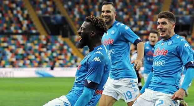 Udinese-Napoli 1-2, Bakayoko allo scadere salva Gattuso