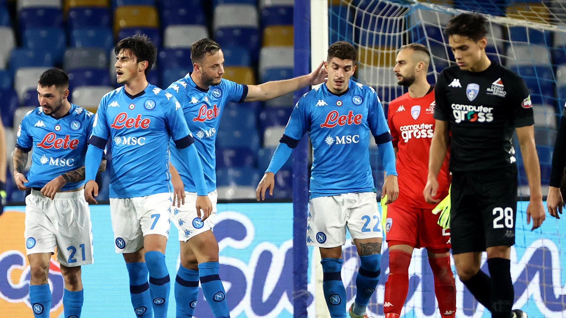 Coppa Italia, Napoli-Empoli 3-2: azzurri ai quarti