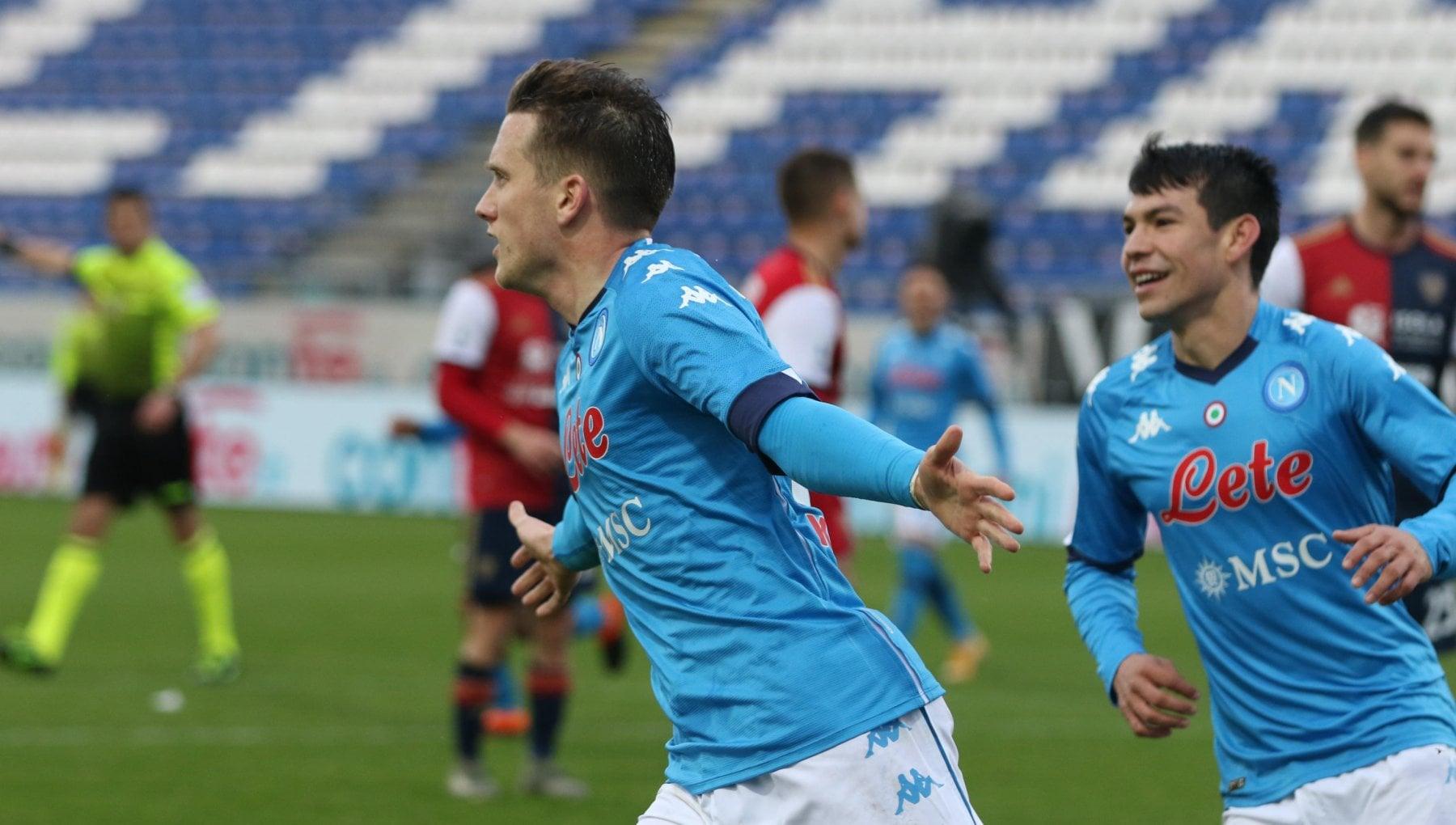 Cagliari-Napoli 1-4, super Zielinski trascina gli azzurri al debutto nel 2021