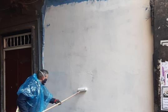 Forcella, coperto il murale realizzato in memoria di Luigi Caiafa