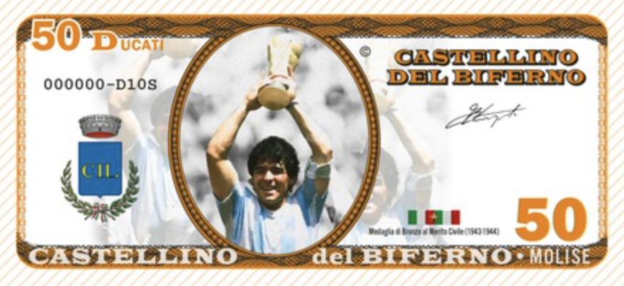 Il Molise conia ducati dedicati a Maradona