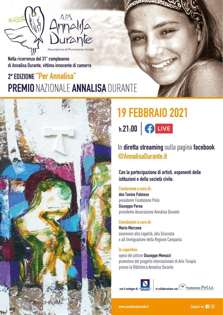 Il 19 febbraio al via la seconda edizione del premio Annalisa Durante