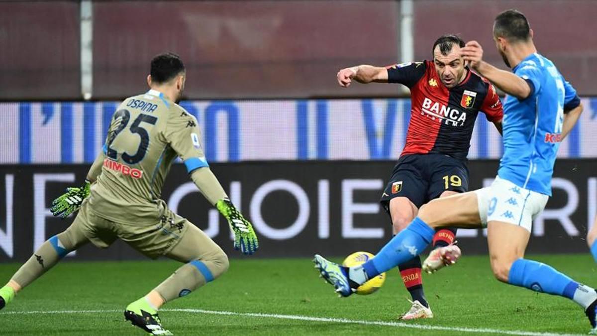 Genoa-Napoli 2-1, Pandev affonda gli azzurri