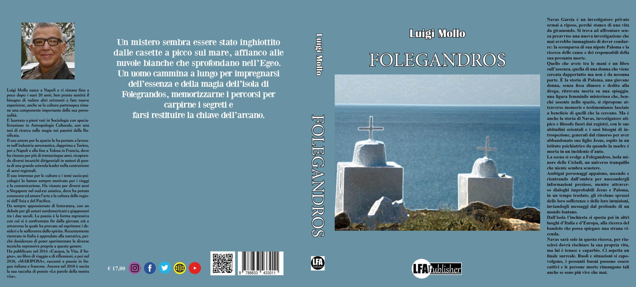"""Le recensioni di RoadTv Italia: """"Folegandros"""", il mistero della verità della vita nel romanzo di Luigi Mollo"""