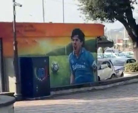 """Maradona, anche a Pozzuoli un murale per celebrare il """"pibe"""""""