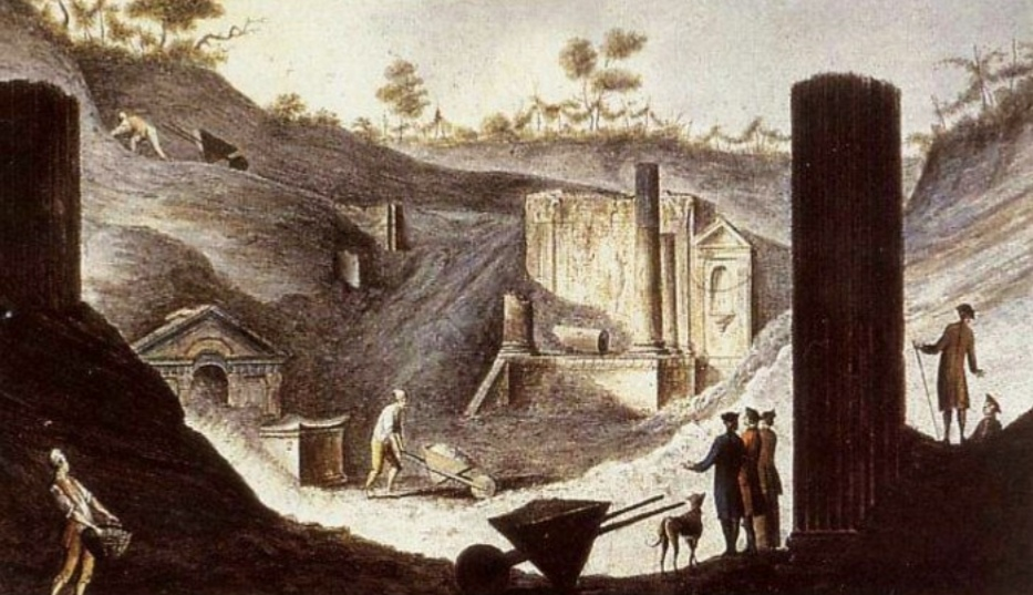 Gli scavi di Pompei voluti da Re Carlo di Borbone: 1 aprile 1748