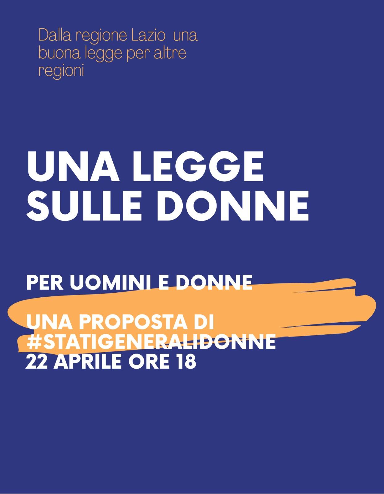 Occupazione femminile, il 22 aprile Stati Generali delle Donne on line
