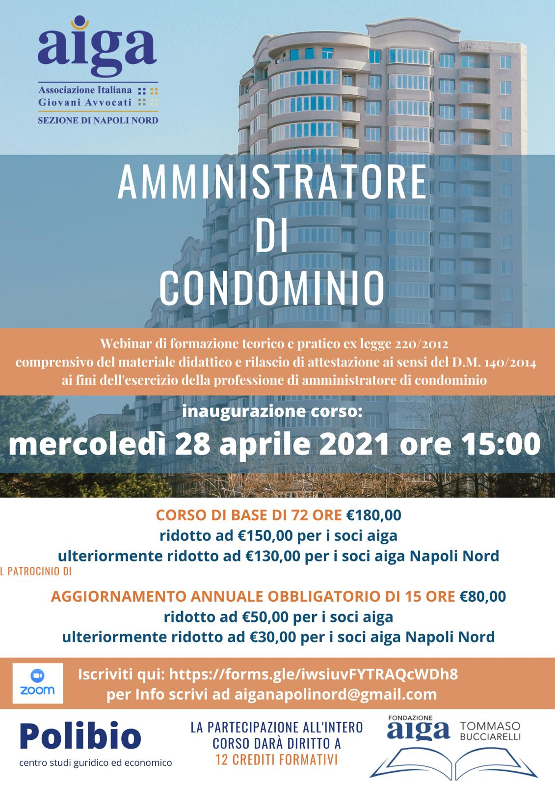 Aiga Napoli Nord: Corso per amministratore di condominio