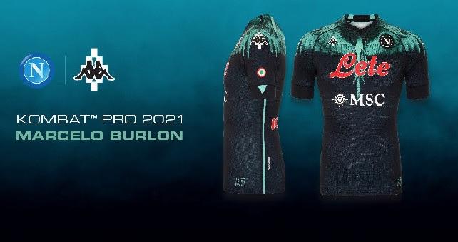 Il Napoli presenta la nuova maglia disegnata da Marcelo Burlon