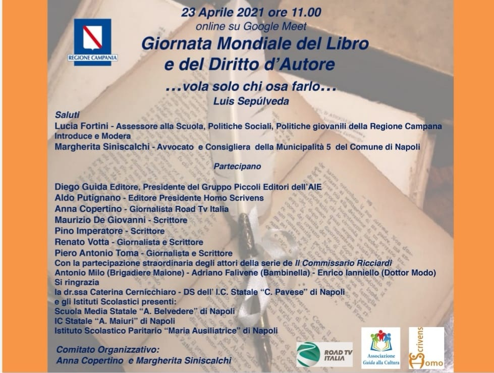 Giornata Mondiale del Libro e del Diritto d'Autore: 23 aprile incontro online su Google Meet