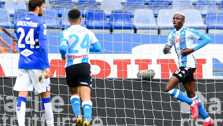 Sampdoria-Napoli 0-2: Ruiz e Osimhen per la ripartenza Champions
