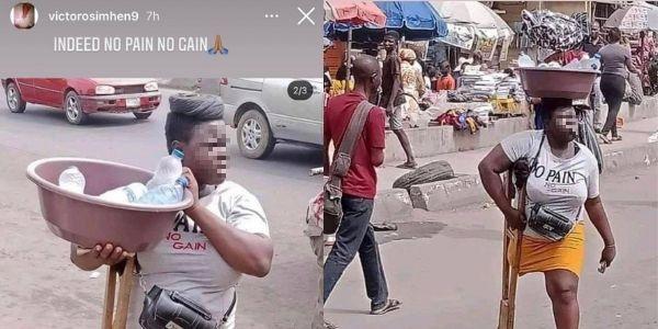 Cuore d'oro Osimhen: rintraccia la ragazza disabile che vende acqua per le strade di Lagos
