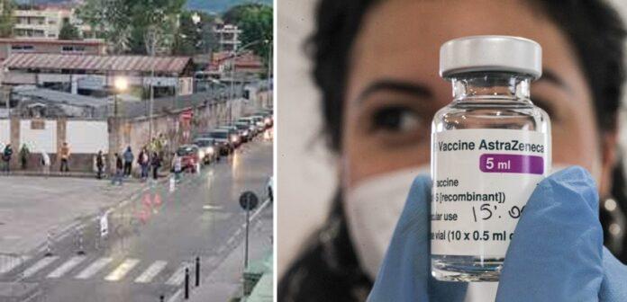 Astra Day a Caserta, 18enni in fila dall'alba per il vaccino