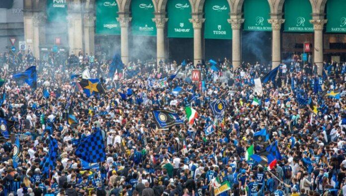 Inter campione d'Italia e 30mila persone in strada