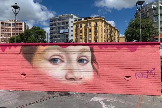 Piazza Nazionale inaugurato il murale per Noemi Staiano