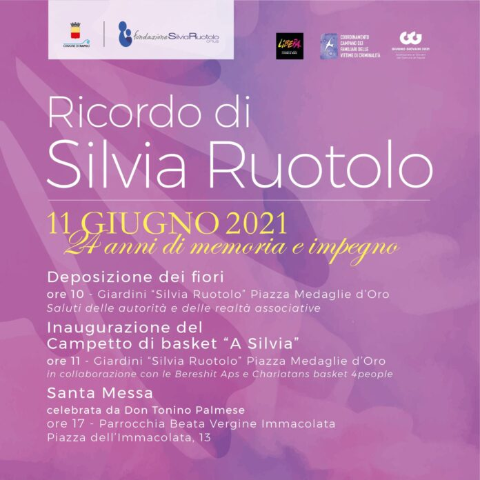 Silvia Ruotolo: domani a Napoli 3 iniziative in memoria