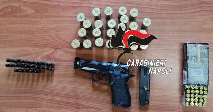 Afragola, una pistola e 103 proiettili tra le aiuole