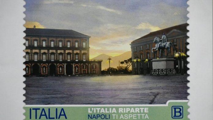 L'Italia riparte, Napoli ti aspetta: francobollo speciale