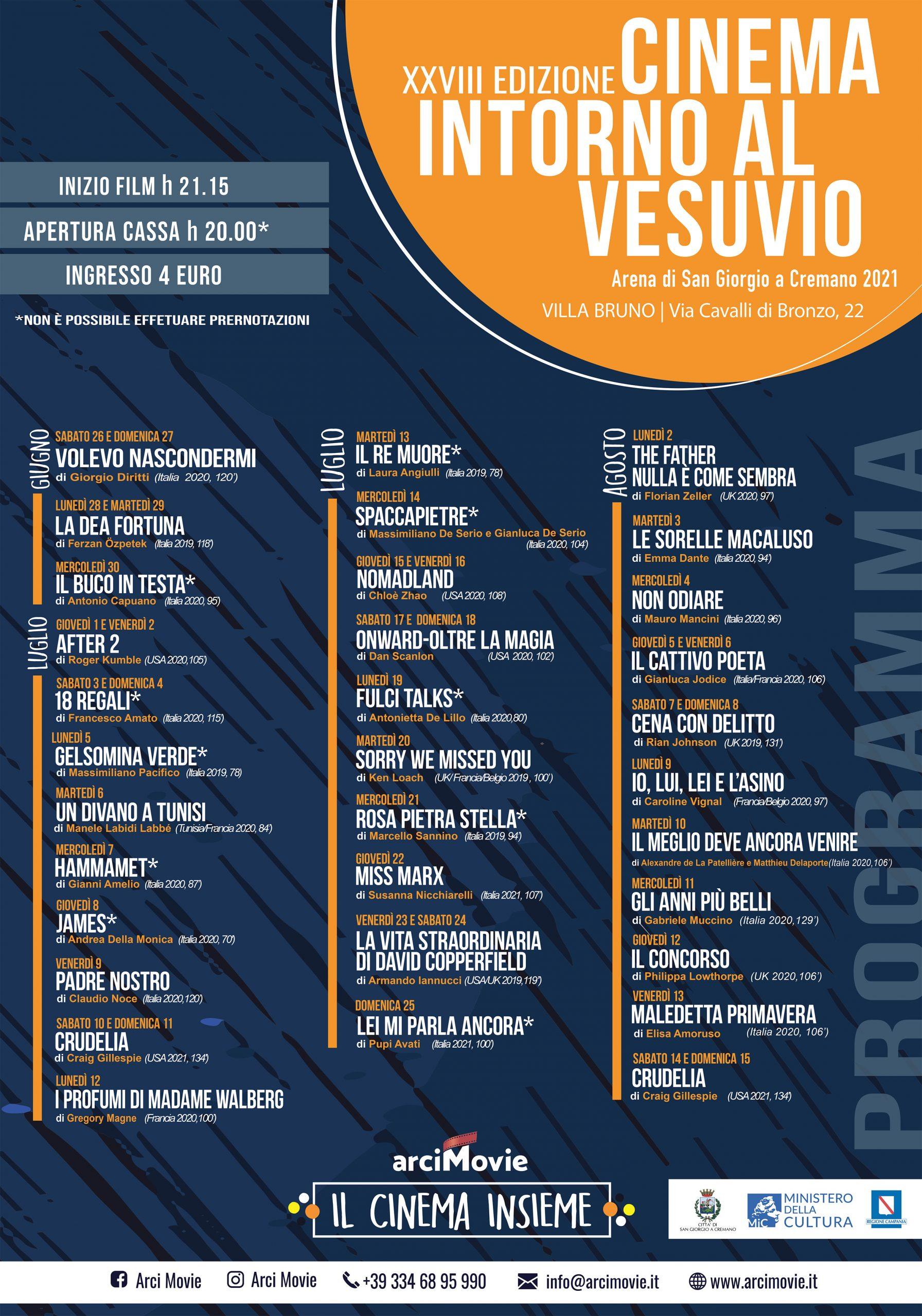 Cinema intorno al Vesuvio, al via la 28esima edizione