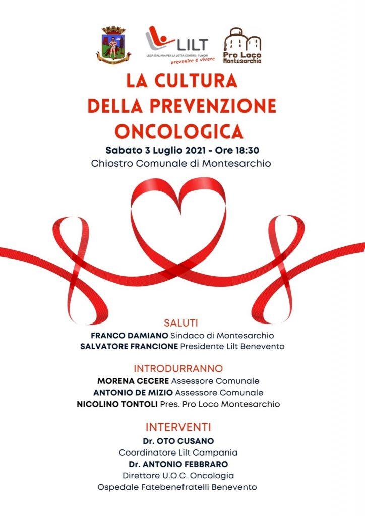 Montesarchio - La cultura della prevenzione oncologica