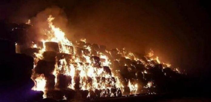 Taverna del Re, disastro ambientale: bruciano le ecoballe