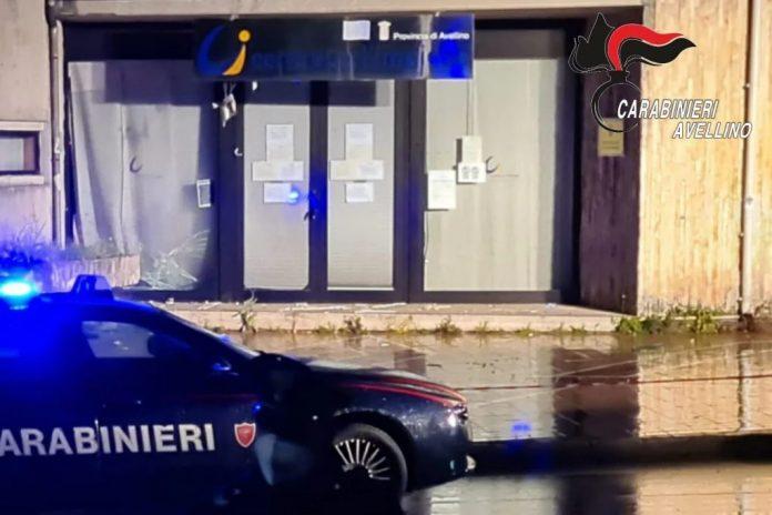 Avellino, bomba contro centro impiego: 2 arresti