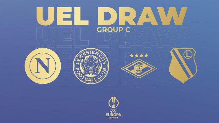Europa League: Napoli con Leicester, Spartak Mosca e Legia