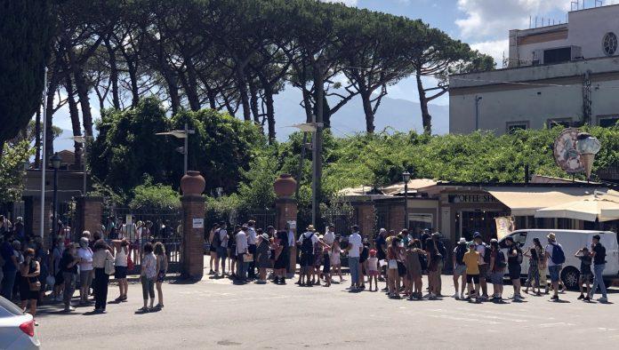 Nel primo giorno del green pass 6.890 visitatori a Pompei