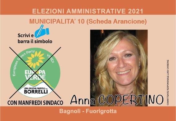 Anna Copertino candidata alla X Municipalità con Europa Verde