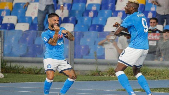 Napoli-Cagliari 2-0, Osimhen e Insigne per la vetta