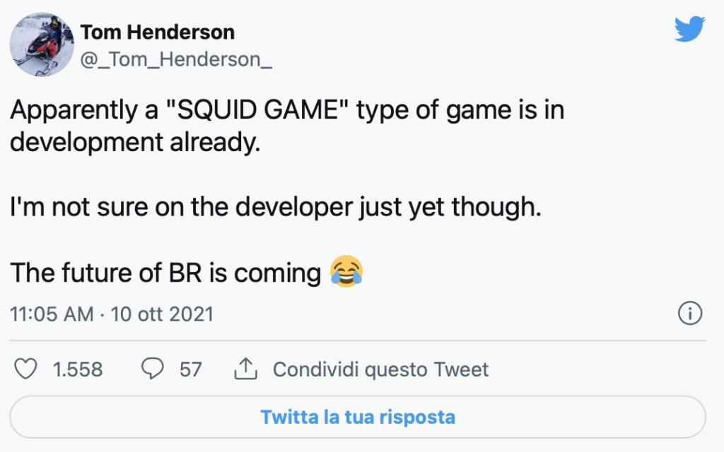 Tom Henderson Squid Game videogioco