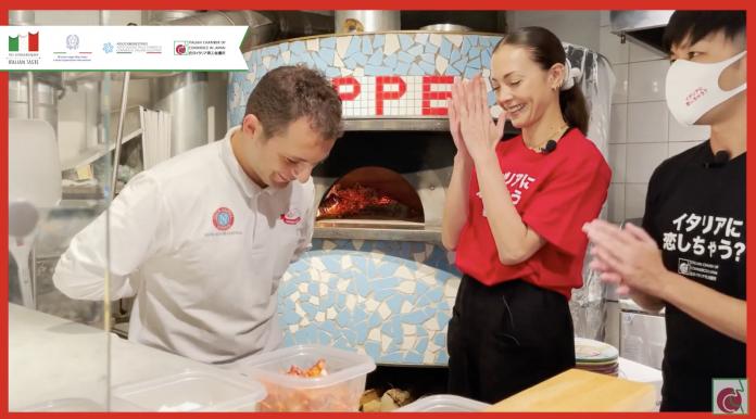 True Italian Pizza Week, l'attrice giapponese Tsuchiya con le mani in pasta da Carlo Errichiello
