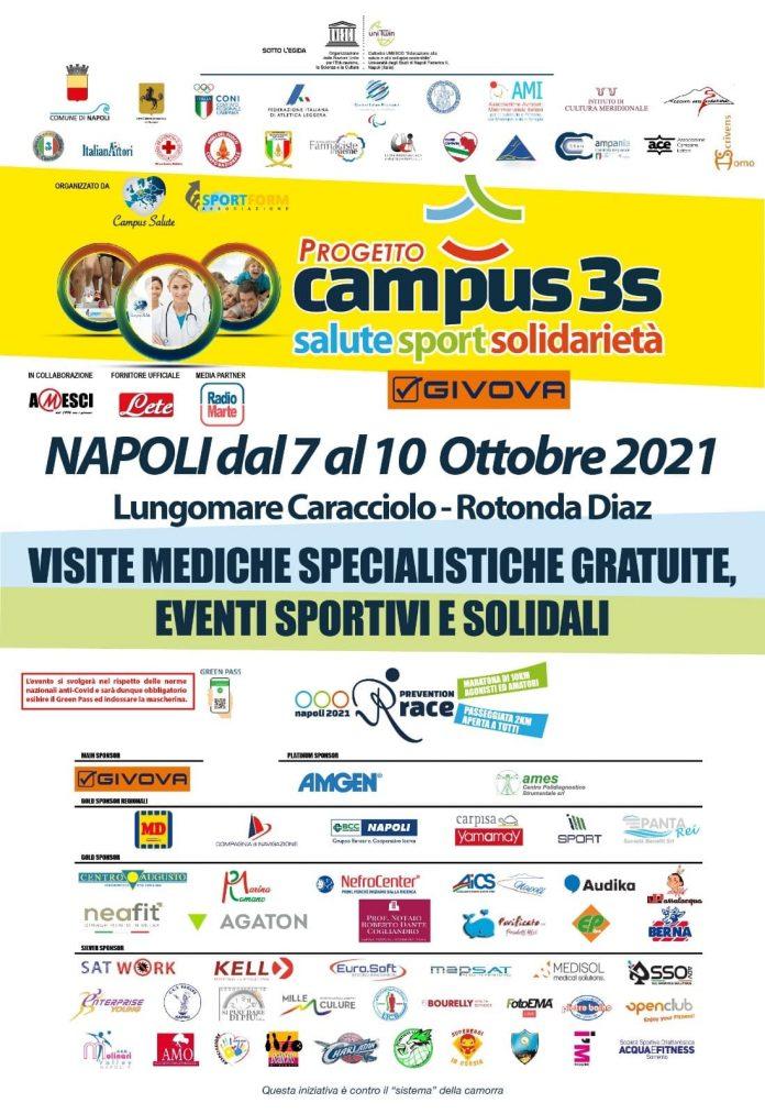 Campus della salute sul lungomare di Napoli il 7 ottobre